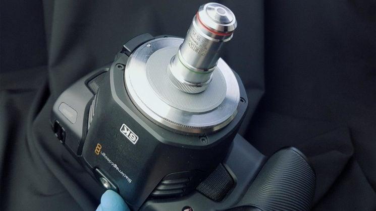 Blackmagic design pocket 6k with Zeiss 16x microscope lens