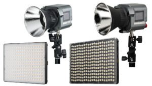 Aputure brings bicolour, daylight and RGB LED panels and Bowens mount COB lights to the entry level